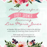 Watercolour Floral Baby Shower Invitation additional 3