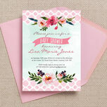 Watercolour Floral Baby Shower Invitation additional 1