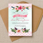 Watercolour Floral Baby Shower Invitation additional 2