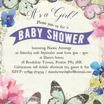 Butterfly Garden Baby Shower Invitation additional 3
