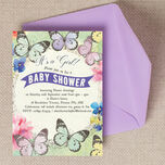 Butterfly Garden Baby Shower Invitation additional 1