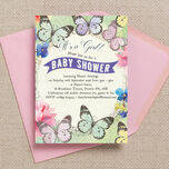 Butterfly Garden Baby Shower Invitation additional 2