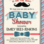Little Man Baby Shower Invitation additional 3
