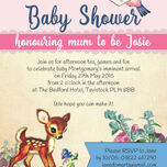 Vintage Deer Baby Shower Invitation additional 3