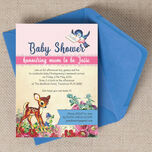 Vintage Deer Baby Shower Invitation additional 1