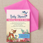 Vintage Deer Baby Shower Invitation additional 2