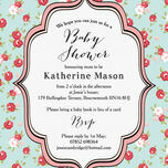 Vintage Rose Baby Shower Invitation additional 3