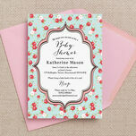 Vintage Rose Baby Shower Invitation additional 1