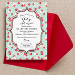 Vintage Rose Baby Shower Invitation additional 2