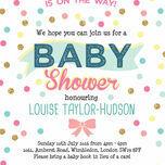 Pastel Confetti Baby Shower Invitation additional 4