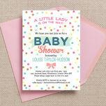 Pastel Confetti Baby Shower Invitation additional 1