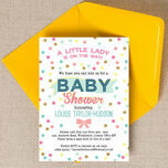 Pastel Confetti Baby Shower Invitation additional 3