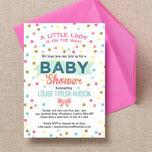 Pastel Confetti Baby Shower Invitation additional 2