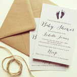 Rustic Calligraphy Personalised Baby Shower Invitation additional 2