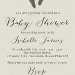 Rustic Calligraphy Personalised Baby Shower Invitation additional 5