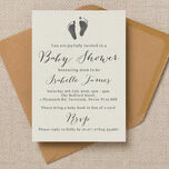 Rustic Calligraphy Personalised Baby Shower Invitation additional 1