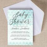 Watercolour Geometric Baby Shower Invitation additional 1