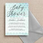 Watercolour Geometric Baby Shower Invitation additional 2