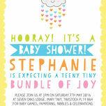 Kawaii Rain Cloud Baby Shower Invitation additional 3