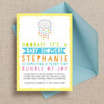 Kawaii Rain Cloud Baby Shower Invitation additional 1