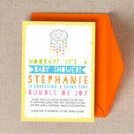 Kawaii Rain Cloud Baby Shower Invitation additional 4