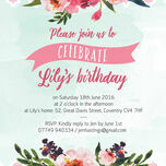 Watercolour Floral Party Invitation additional 3