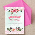 Watercolour Floral Party Invitation additional 1
