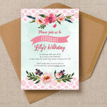 Watercolour Floral Party Invitation additional 2