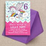 Rainbow Unicorn Party Invitation additional 1