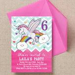 Rainbow Unicorn Party Invitation additional 3
