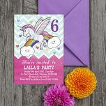Rainbow Unicorn Party Invitation additional 2