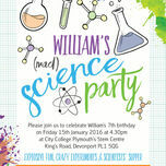 Mad Science Party Invitation additional 5