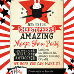 Magic Show Party Invitation additional 3
