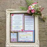 Country Textiles Wedding Invitation additional 5