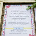 Country Textiles Wedding Invitation additional 6