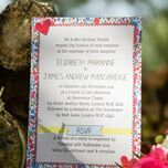 Country Textiles Wedding Invitation additional 7