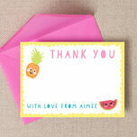 Kawaii Cute Fruit Thank You Cards additional 1