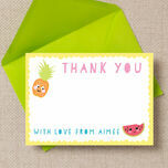 Kawaii Cute Fruit Thank You Cards additional 2
