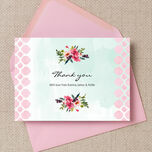 Watercolour Floral Thank You Cards additional 1