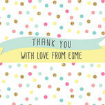 Pastel Confetti Personalised Thank You Cards additional 3