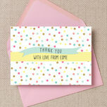 Pastel Confetti Personalised Thank You Cards additional 2