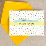 Pastel Confetti Personalised Thank You Cards additional 1