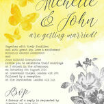 Yellow & Grey Watercolour Floral Wedding Invitation additional 3