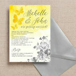 Yellow & Grey Watercolour Floral Wedding Invitation additional 1