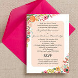 Elegant Floral Wedding Invitation additional 1
