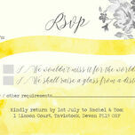 Yellow & Grey Watercolour Floral RSVP additional 1