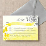 Yellow & Grey Watercolour Floral RSVP additional 2
