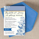 French Toile Wedding Invitation additional 1