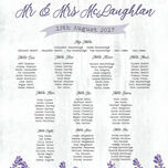 Lilac & Lavender Wedding Seating Plan additional 4