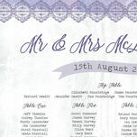 Lilac & Lavender Wedding Seating Plan additional 3